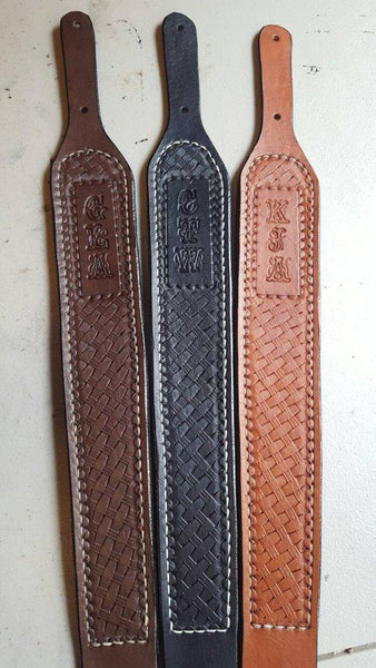 Leather Rifle Sling, Hand Tooled Handmade Rifle Sling, Adjustable, Personalized Rifle Sling, Suede Backing