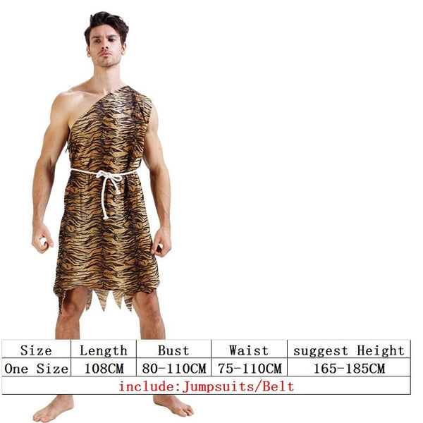 leopard savage caveman croods flintstones primitive sexy indian clothing costume carnival halloween costumes for men adult fancy