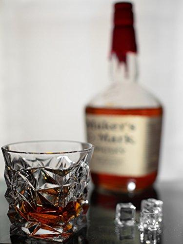 Luxury Whiskey Glass Old Fashioned Vintage Rocks for Bourbon Scotch Cocktail Drinks Tumbler Glassware Gifts for Men Dad and Husband Prime Snifter Bar (1)