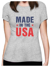 Made In The USA Pride American Flag 4th Of July Women T-Shirt