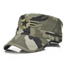 Men Military Hat Adjustable Flat Top Caps Summer Male US  Washed Cotton Twill  Army Cap Camouflage Kepi