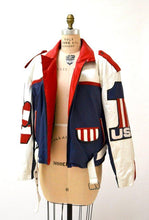Mens Vintage Leather Motorcycle Jacket USA American Flag Volcano// Vintage Mens Leather Jacket Biker America Jacket USA Peace Sign