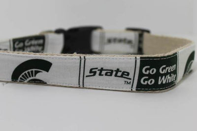 Michigan State University hemp dog collar or leash