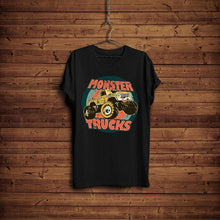 Monster Truck Shirts For Boys Vintage Graphic Tees For Women