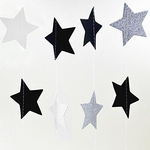 National Day Twinkle Patriotic Shooting Stars Hangings Swirl Decorations Red Blue White 4th of July Presidents Day Birthday Party Decorations