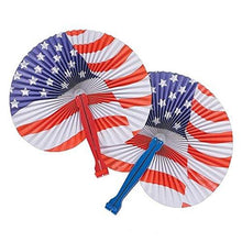 Neliblu July 4th Patriotic Themed American Flag Fans Party Favors Toys 1 Dozen