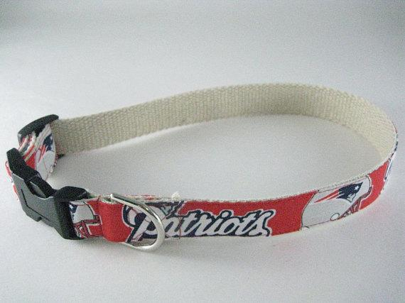 New England Patriots hemp dog collar or leash