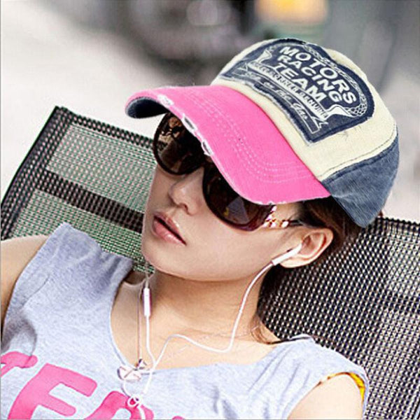 New Unisex Baseball Cap Cotton Motorcycle Cap Edge Grinding Do Old Hat
