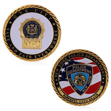 New York Police Department Gold Plated Commemorative Challenge Coin Collection