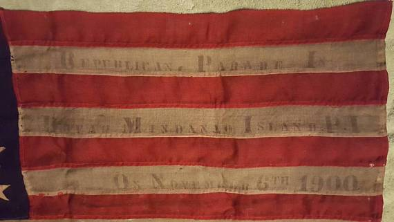 ON SALE Antique 25 Star American Flag - 1900 Republian Parade - Very Rare Find (see description for more details)