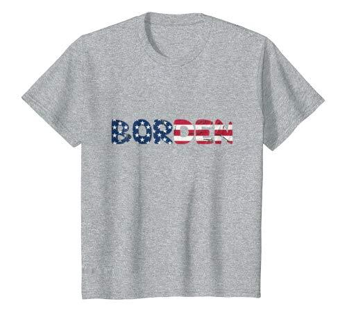 Patriotic Borden Flag USA Shirt July 4th Distressed