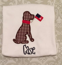 Patriotic Dog 4th of July Labor Day Monogrammed Shirt