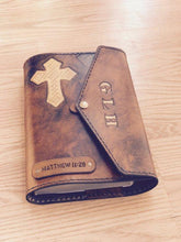Personalized Leather Bible Cover, Custom Scripture Cover, Large Bible Cover, Handmade Bible Cover, Christian Gift, Christian Bible Case