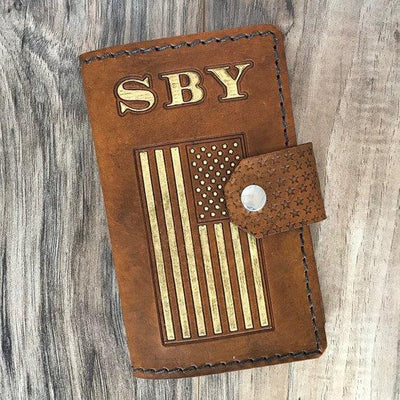 Personalized Leather Journal, Custom Leather Journal, Personalized Leather Notebook, Pocket-Size Journal, Military Journal, Military Gift