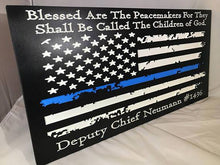 Personalized Police Officer Gifts Police Sign Rustic Thin Blue Line American Flag Home Decor Anniversary Fathers Day Christmas Graduation