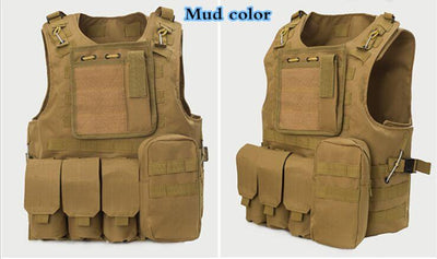 Professional sales USMC Airsoft Tactical Military Molle Combat Assault Plate Carrier Vest Tactical vest 10 Colors CS clothing