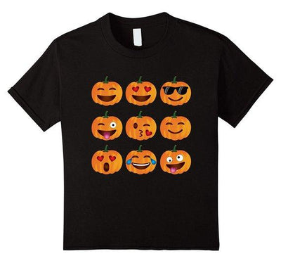 Pumpkin Emoji T-Shirt, Pumpkin Shirt Emoji Halloween Costume