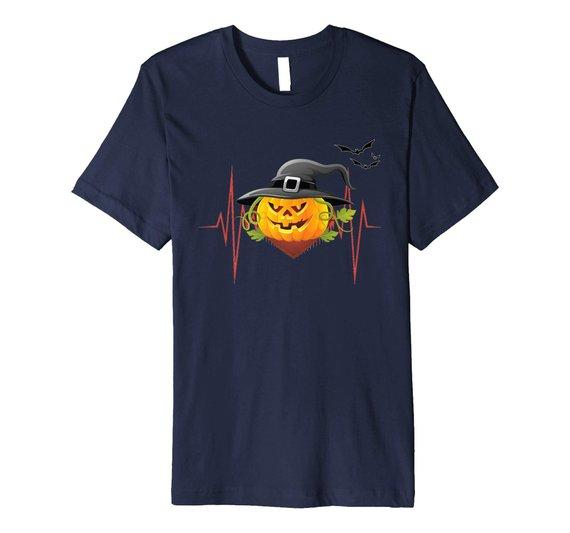 Pumpkin Heartbeat Halloween T-Shirt