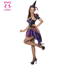 Purple Naughty Halloween Costumes For Women Witch Cosplay Sexy Fancy Dress Burlesque Carnival Costume Adult Role Playing Outfits
