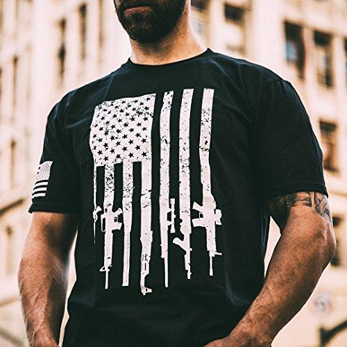 Rifle Flag Pro-Gun Patriotic T-Shirt