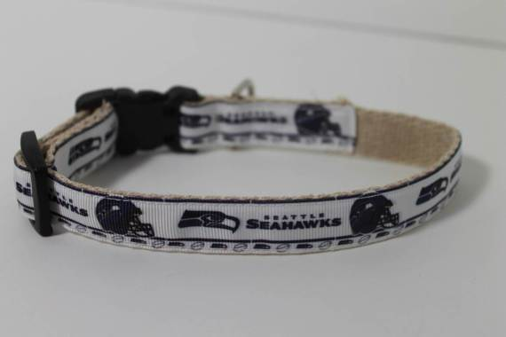 Seattle Seahawks hemp dog collar or leash