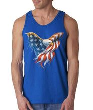 Shop4Ever Eagle USA Flag Men's Tank Top 4th of July Tank Tops