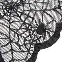 Spider Web Net Black Lace Halloween Easter Festival Tablecloth For Parties Event Decor, & Dinner halloween decoration