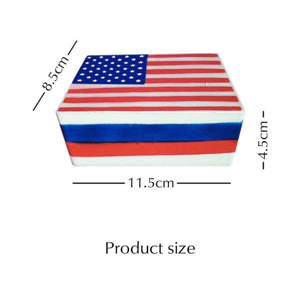 Squishies American Flag Slow Rising Cream Stress Relief Toys for 4th of July