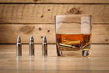 Stainless Steel Bullet Shaped Whiskey Stones Set of 6 - Premium Chilling Rocks - Ice Stones With Tongs And Freezer Pouch, Great Gift Idea for Whiskey Lovers