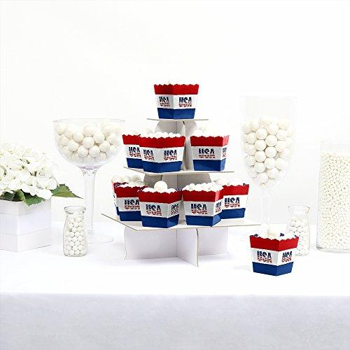 Stars & Stripes - Party Mini Favor Boxes - Labor Day USA Patriotic Party Treat Candy Boxes - Set of 12