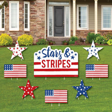 Stars & Stripes - Yard Sign & Outdoor Lawn Decorations - Labor Day Patriotic Party Yard Signs - Set of 8Stars & Stripes - Yard Sign & Outdoor Lawn Decorations - Labor Day Patriotic Party Yard Signs - Set of 8