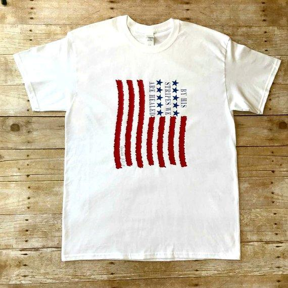 stars and stripes shirt - american flag shirts for men - USA - Donald Trump tee-Christian t shirts for men-patriotic t shirts-american flag