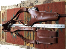 Tanned Leather Shoulder Holster & Magazine Pouch Fits Colt Springfield Ruger RIA Remington ATI Model 1911