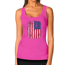 TeeStars 4th of July Vintage Distressed USA Flag Racerback Women's Tank Top