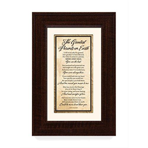 The Greatest Parents on Earth 8.5 x 12.5 Wood Wall Art Frame Plaque