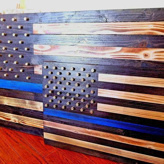 Thin Blue Line,police officer,custom,husband,wife,anniversary gift,police gifts,police academy,handmade,american flag,law enforcement