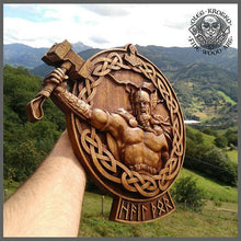 Thor Odin Valkiria Asatru Viking Mythology Icon Home Decor Art Norse Wood Picture Pagan Gods Carving Heathen Celtic Norse Rune Wall Hanging