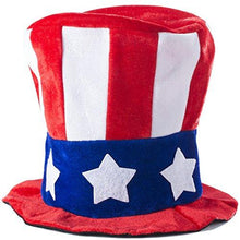Tigerdoe American Flag Hat - Uncle Sam Costume - Patriotic Accessories - Forth of July Hats (2 Pc. Uncle Sam Costume Set)