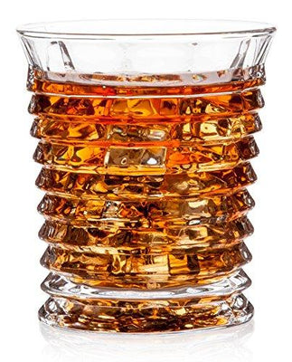 Tornado Whiskey Glasses, Gift Pack Set Of 2 - Unique Scotch Lead Free Liquor Tumblers, Dishwasher Safe, Classic Old Fashioned Barware, Rum Vodka Glassware, Elegant Ultra Clarity Cocktail Bourbon Glass