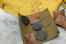 Travel Game Pouch - Tic Tac Toe Pouch - Leather Pouch