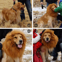 Uiano Pet Costume Lion Mane Wigs for Dog Cat Cute Halloween Festival F