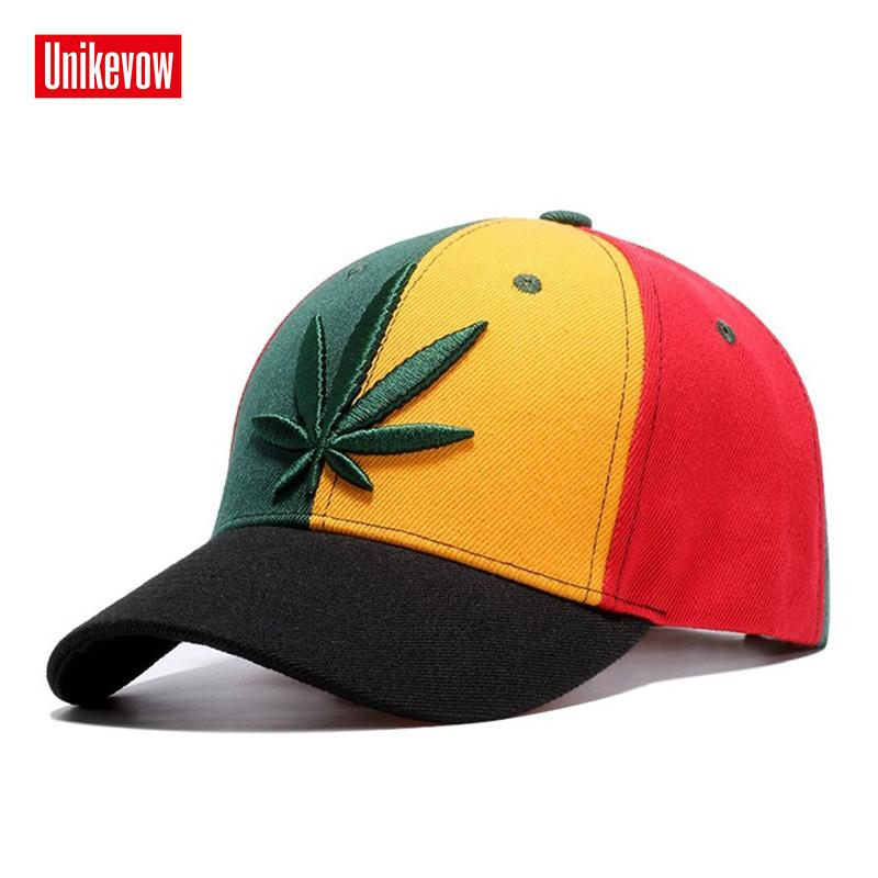 4712f3d1afc ... UNIKEVOW High quality Baseball Cap Unisex Sports Leisure Hats Leaf  Embroidery Sport Cap For Men And ...