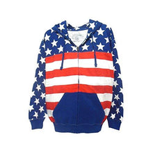 US Vintage Unisex Proud American Flag Zip up Hoodie Sweatshirt USW3543