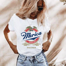 Vintage Unisex Merica t-shirt, fourth of July shirt, 4th of July shirt, merica miller lite, merica miller lite tee, independence day