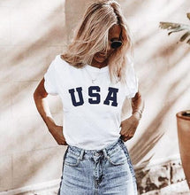 Vintage USA Unisex T-Shirt with American Flag sleeve print, 4th of July, Fourth of July, Independence Day, world cup soccer, vintage USA tee