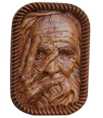Vintage Wood Carving - Old Man Wood Carving -  Old Man Sculpture - Wood Decor Wood Carving Wood Wall Art Decor Wall Hanging - MADE TO ORDER