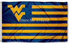 WEST VIRGINIA MOUNTAINEERS AMERICAN Flag 150X90CM NCAA 3x5 FT Banner 100D Polyester Custom flag grommets 6038,free shipping