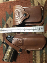 Western Leather Holster & Magazine Pouch Fits Colt 45 Model 1911 Springfield Ruger Remington RIA Citadel Kimber