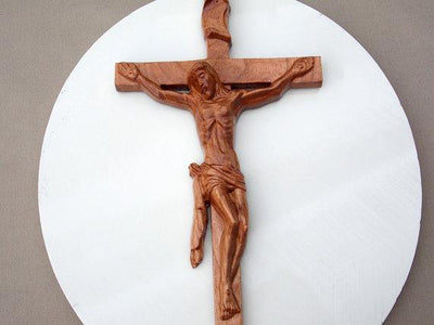 Wooden Wall Crucifix ~ Catholic Wall Art  ~ Jesus Christ ~ Catholic Etsy ~ Church Decor ~ Catholic on Etsy ~ Wedding Gift ~ wood anniversary