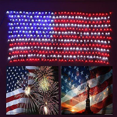 Led American Flag lights, 6.5ft3.2ft, Waterproof American Flag Light for 4th of July Decorations,Independence Day,memorial Day, Festival, Garden,Indoor and Outdoor Christmas Decoration